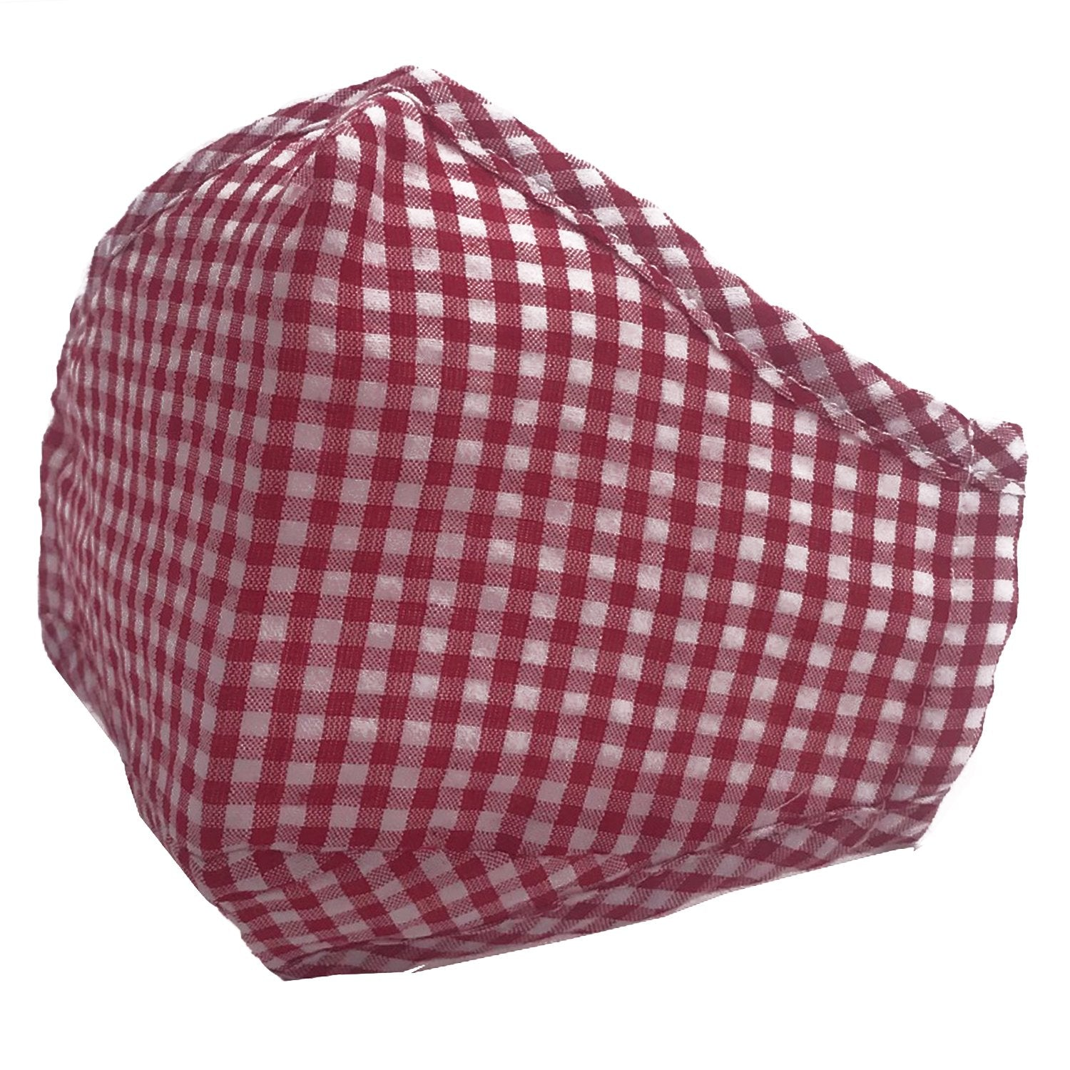 ADULT MASK GINGHAM RED