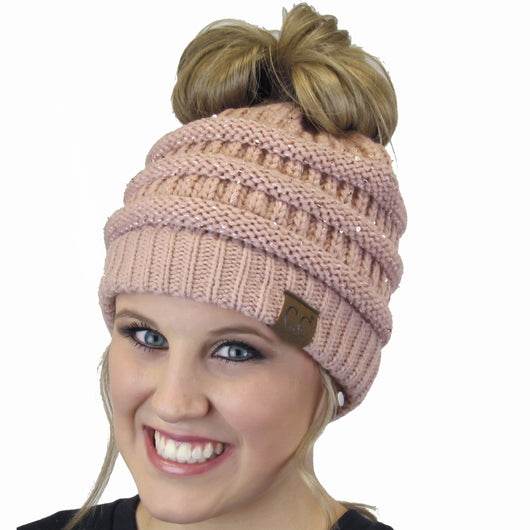 MB-730 SEQUIN BEANIE INDI PINK