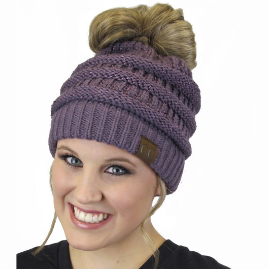 MB-730 SEQUIN BEANIE VIOLET