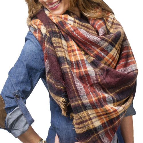 BLANKET SCARF 2 - BROWN #2