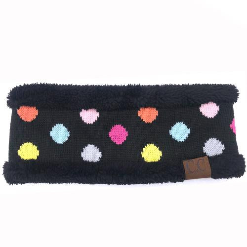 PD-HW-22 MULTI BLACK DOT HEADWRAP