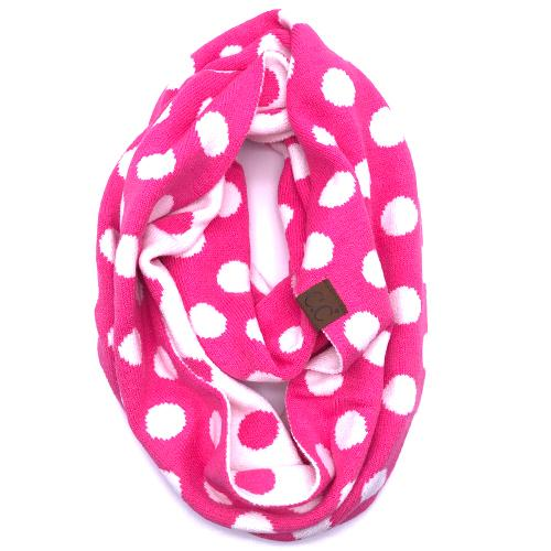 PD-INF-21 SCARF NEW CANDY PINK/WHITE