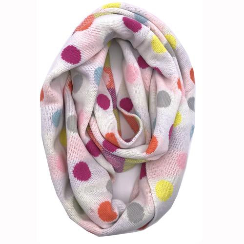 PD-INF-22 SCARF IVORY Multi Dot