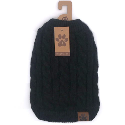 C.C Pet Sweaters Pet-4 Black