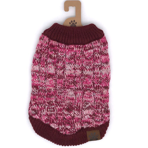 C.C Pet Sweaters Pet-3 Burgundy
