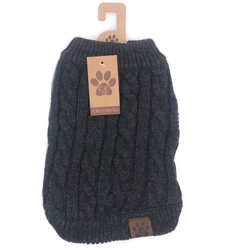 C.C Pet Sweaters Pet-4 Dark Melange Grey
