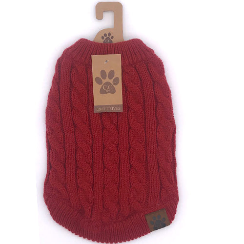C.C Pet Sweaters Pet-4 Red