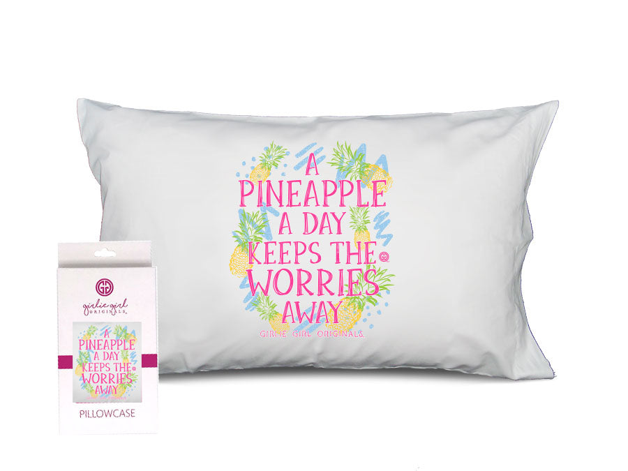 PC-White Pineapple Pillowcase