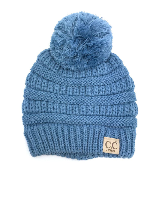 YJ-847POM Denim Kid Beanie
