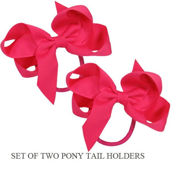 PONY TAIL HOLDERS - HOT PINK