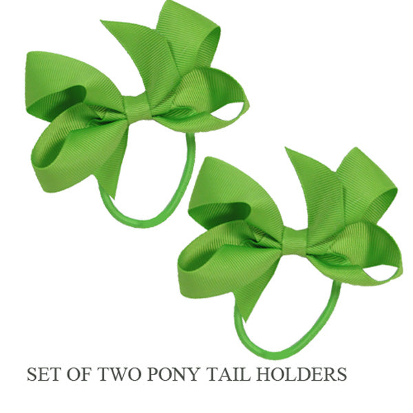 PONY TAIL HOLDERS - LIME
