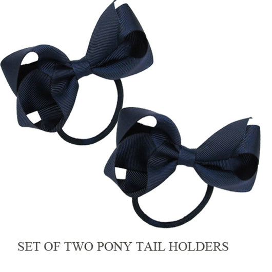 PONY TAIL HOLDERS - NAVY