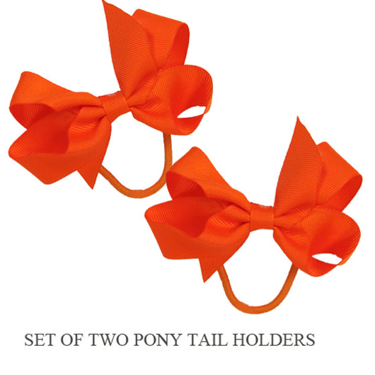 PONY TAIL HOLDERS - ORANGE