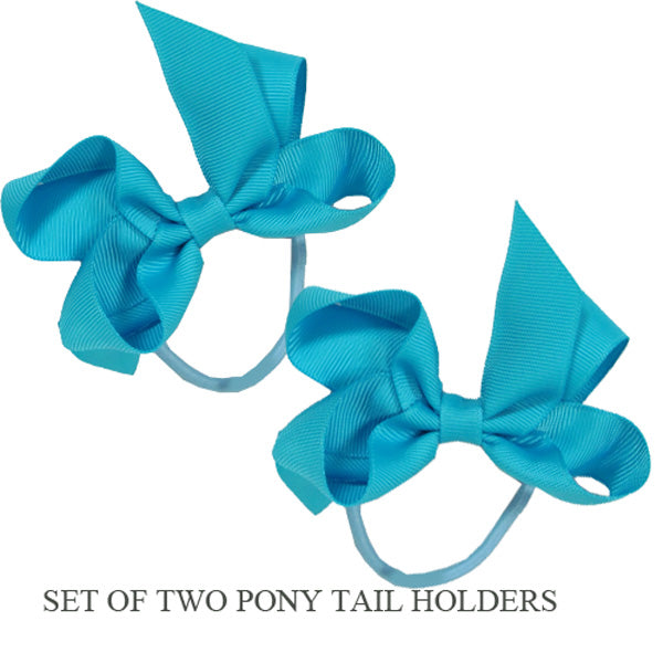 PONY TAIL HOLDERS - TURQUOISE