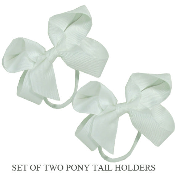 PONY TAIL HOLDERS - WHITE