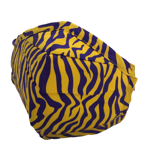 ADULT MASK TIGER PURPLE YELLOW