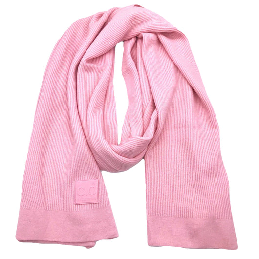 Scarf-7007 Rubber Patch Scarf Blush Pink