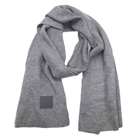SF-7007 Rubber Patch Scarf Light Melange Grey