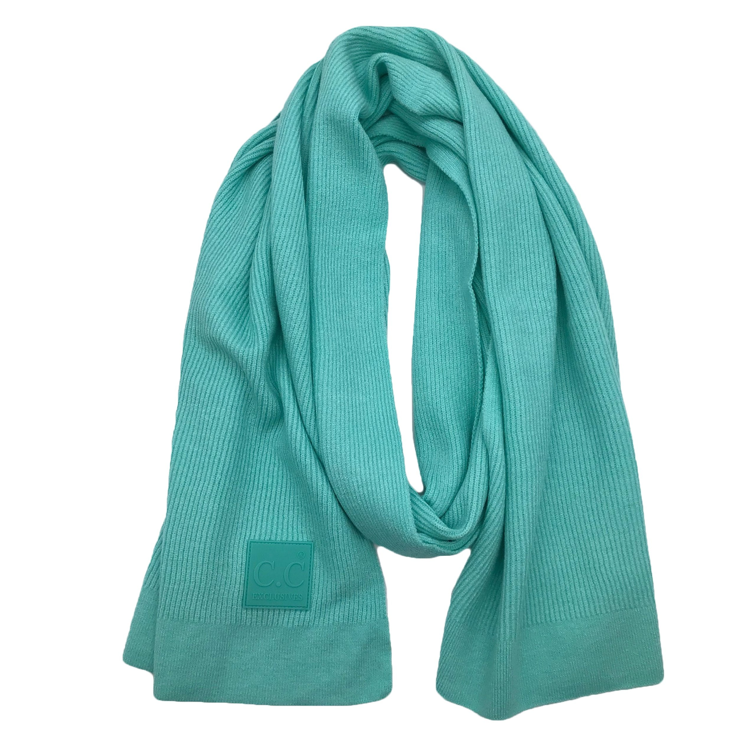 Scarf-7007 Rubber Patch Scarf Mint