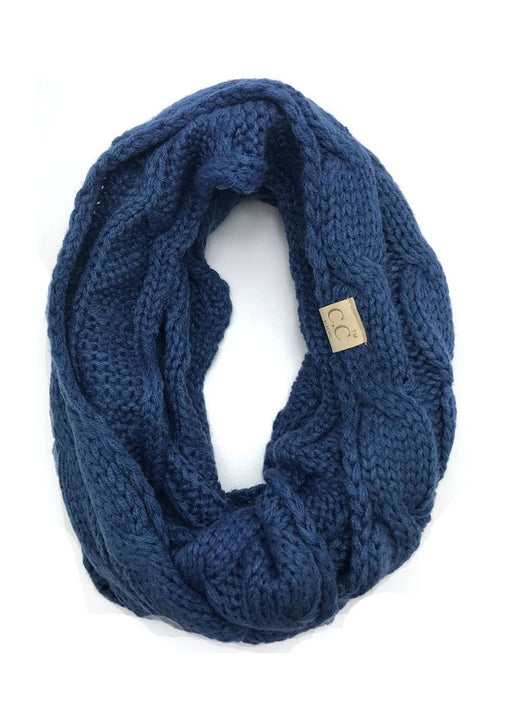 SF800KIDS-DARK DENIM INFINITY SCARF
