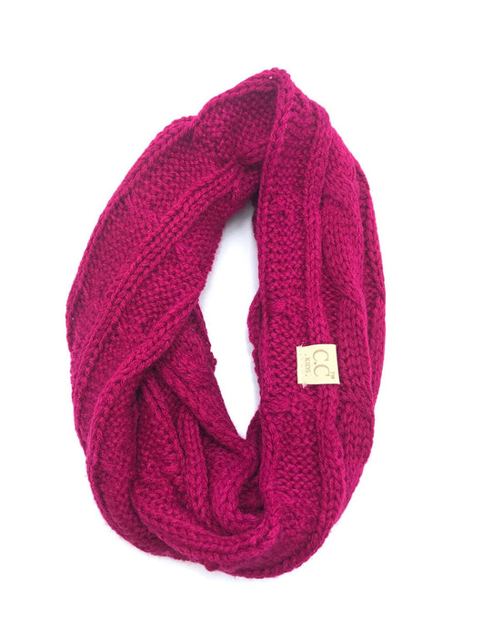 SF-800-KIDS-HOT PINK INFINITY SCARF