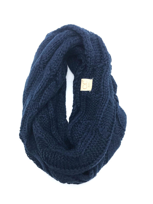 SF800KIDS-NAVY INFINITY SCARF