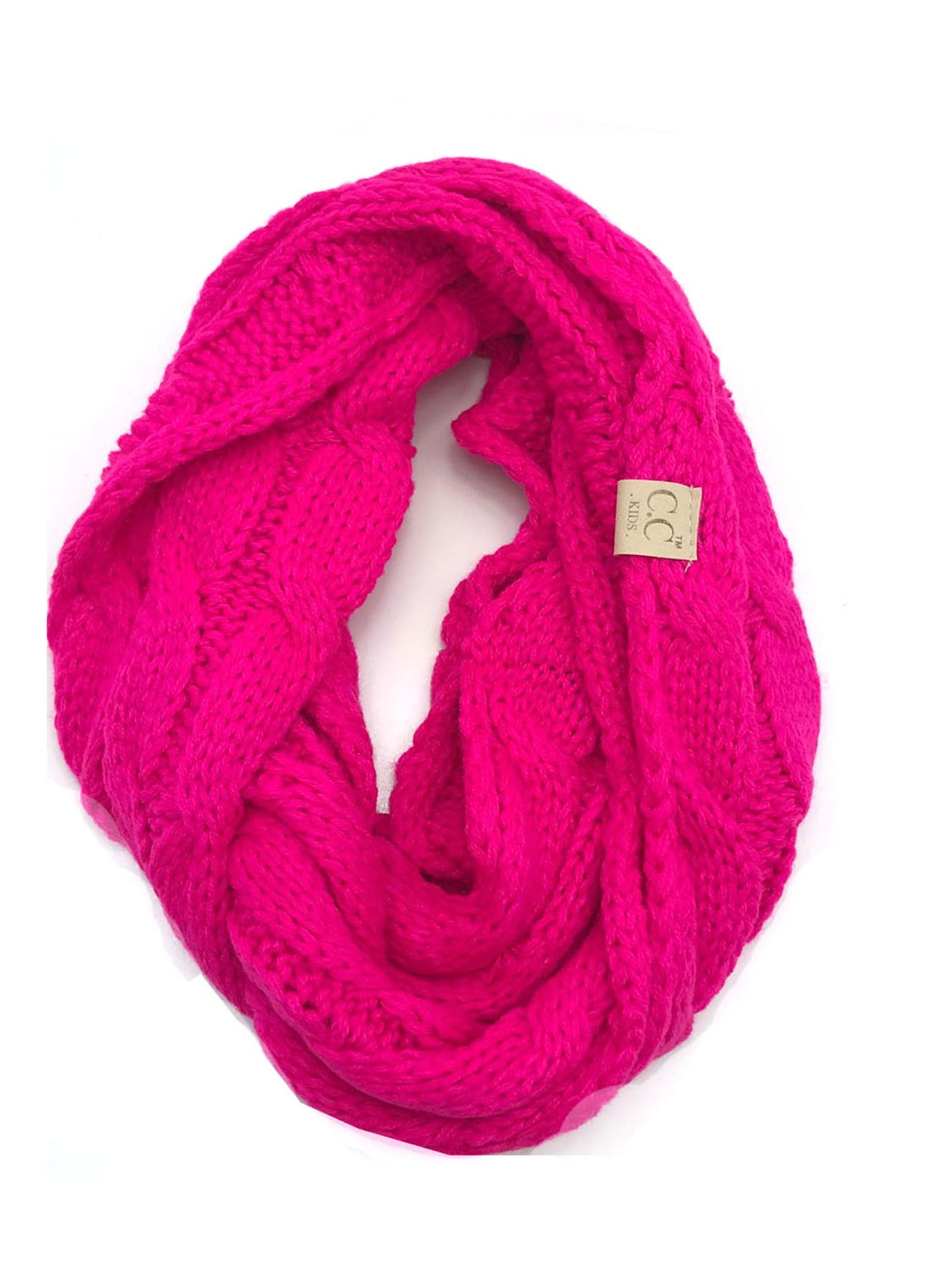 SF800KIDS-NEON PINK INFINITY SCARF