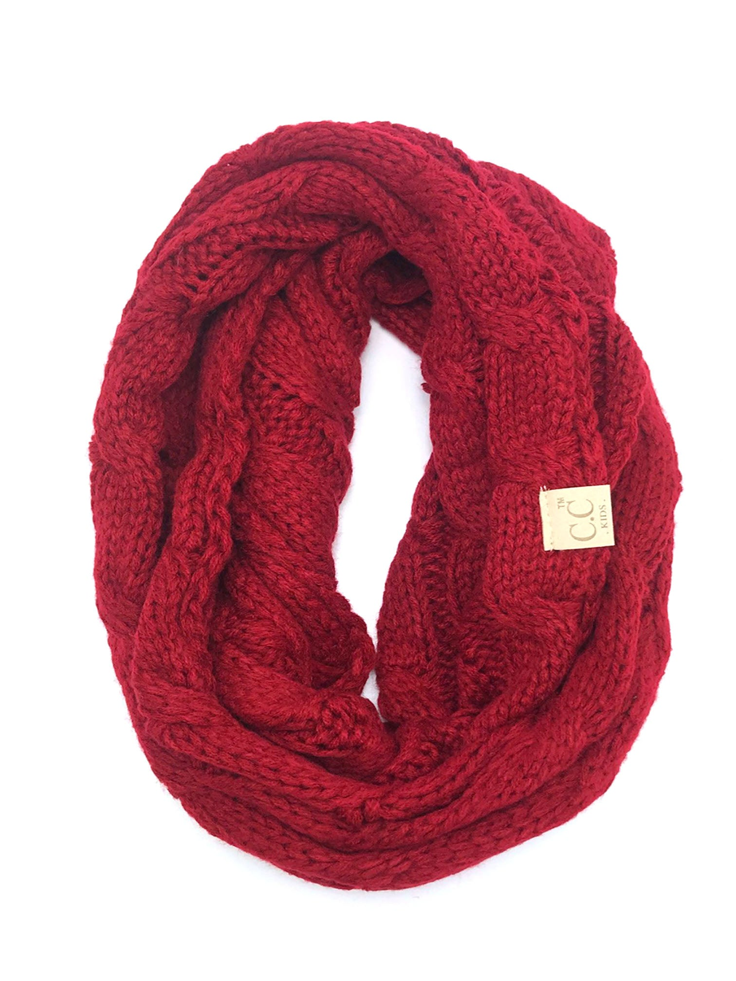 SF800KIDS-RED INFINITY SCARF