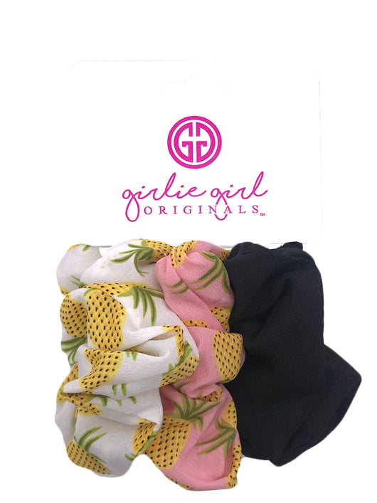 SCR-36-Pineapple Assorted Scrunchies