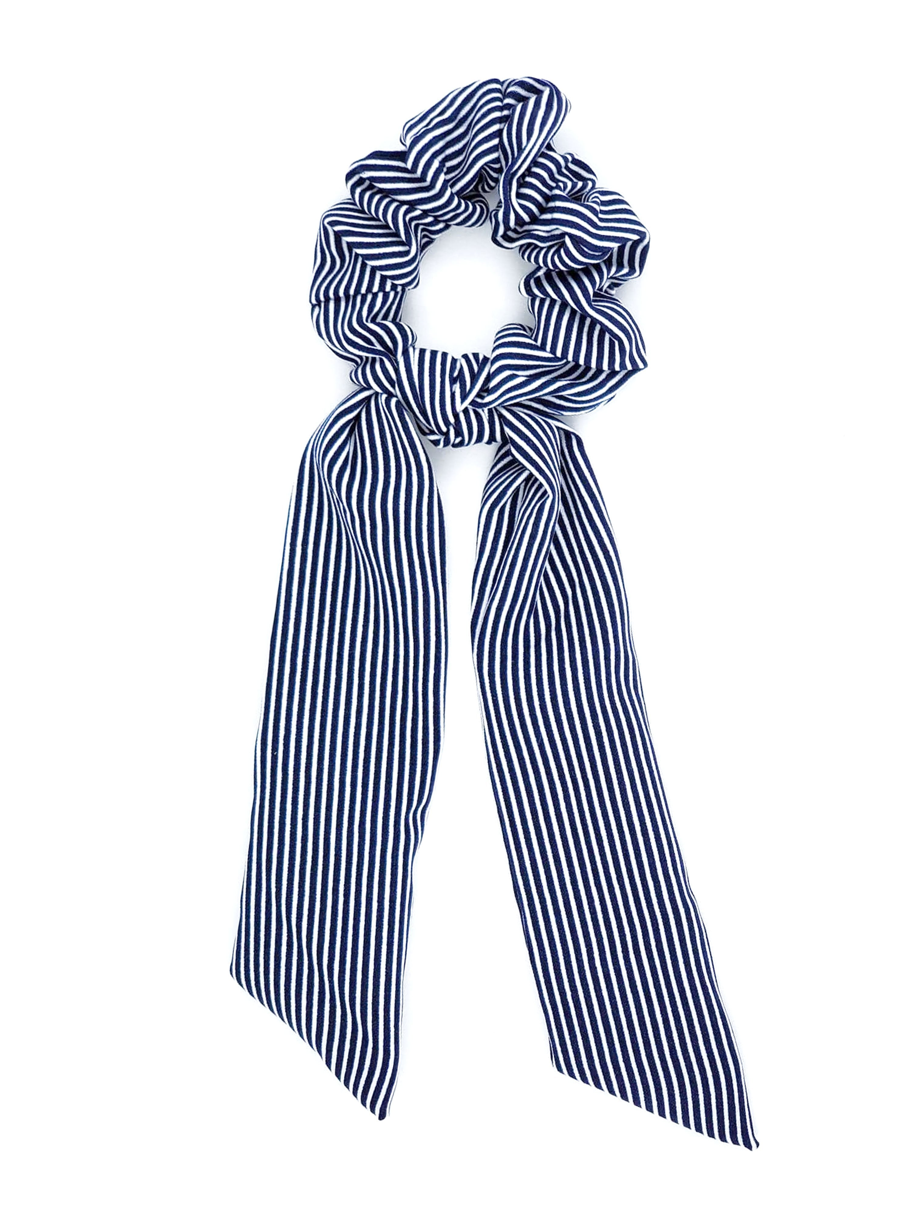 SCT-1003 Navy Stripe Scrunchie