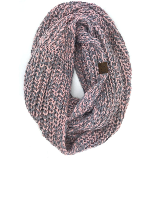 INF-123 ROSE GREY CROCHET SCARF