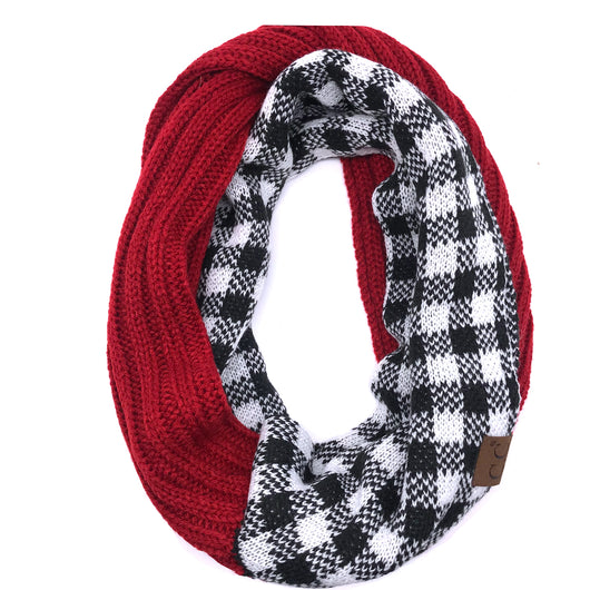 SF-17 BUFFALO PLAID SCARF RED WHITE/BLACK