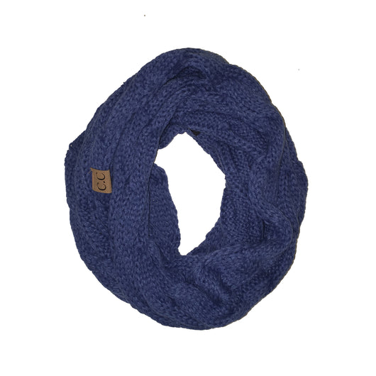 SF800-Dark Denim Infinity Scarf