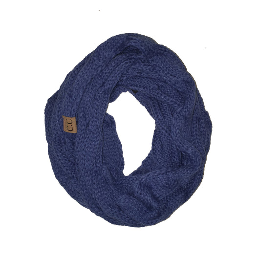 SF-800 Dark Denim Infinity Scarf