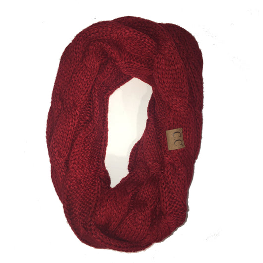 SF-800 Red Infinity Scarf