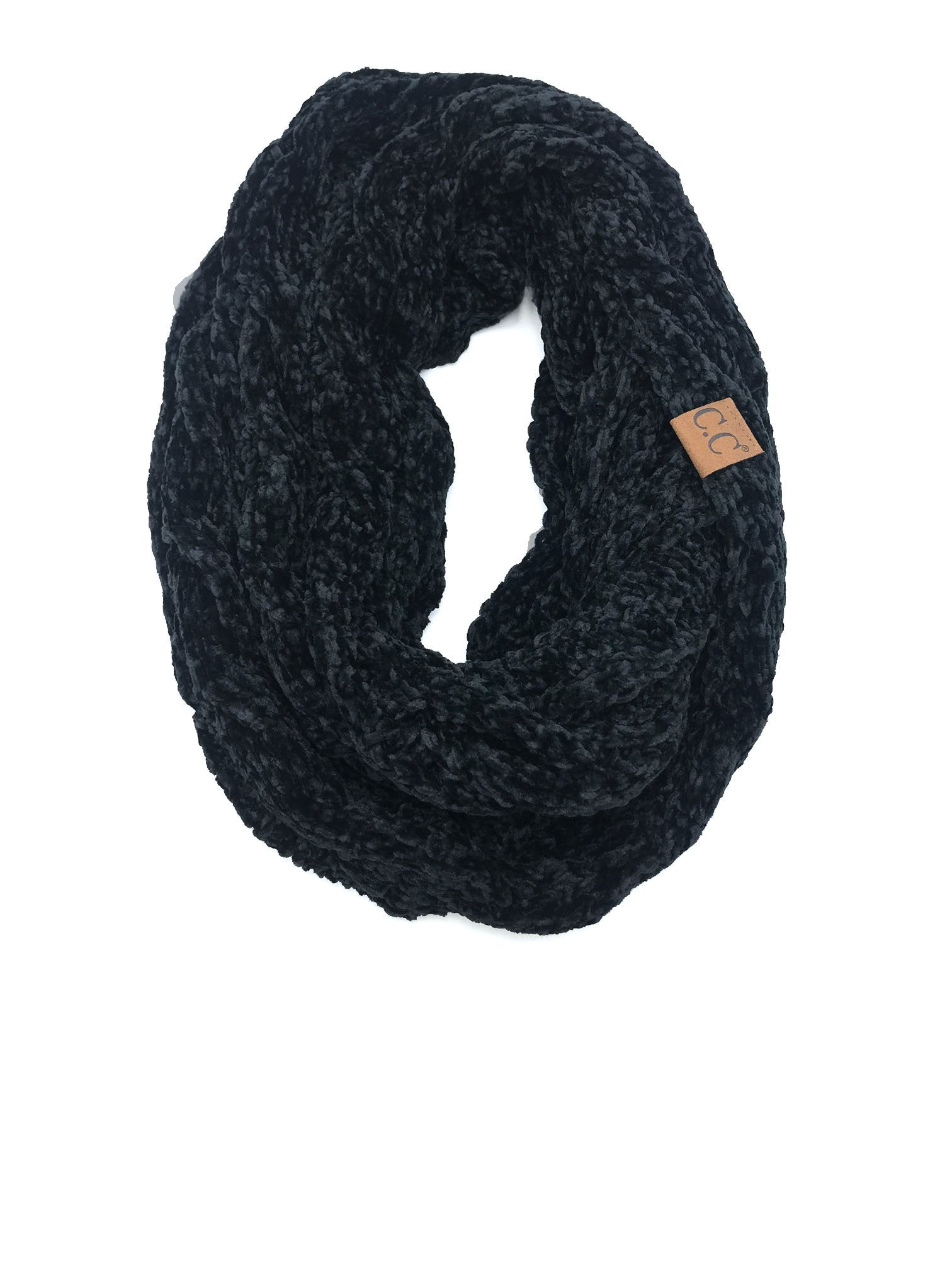 SF-30 BLACK VELOUR SCARF