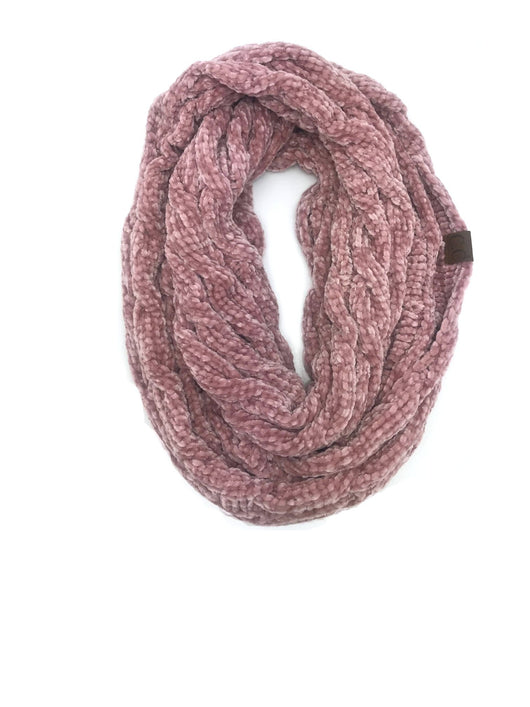 SF-30 ROSE VELOUR SCARF
