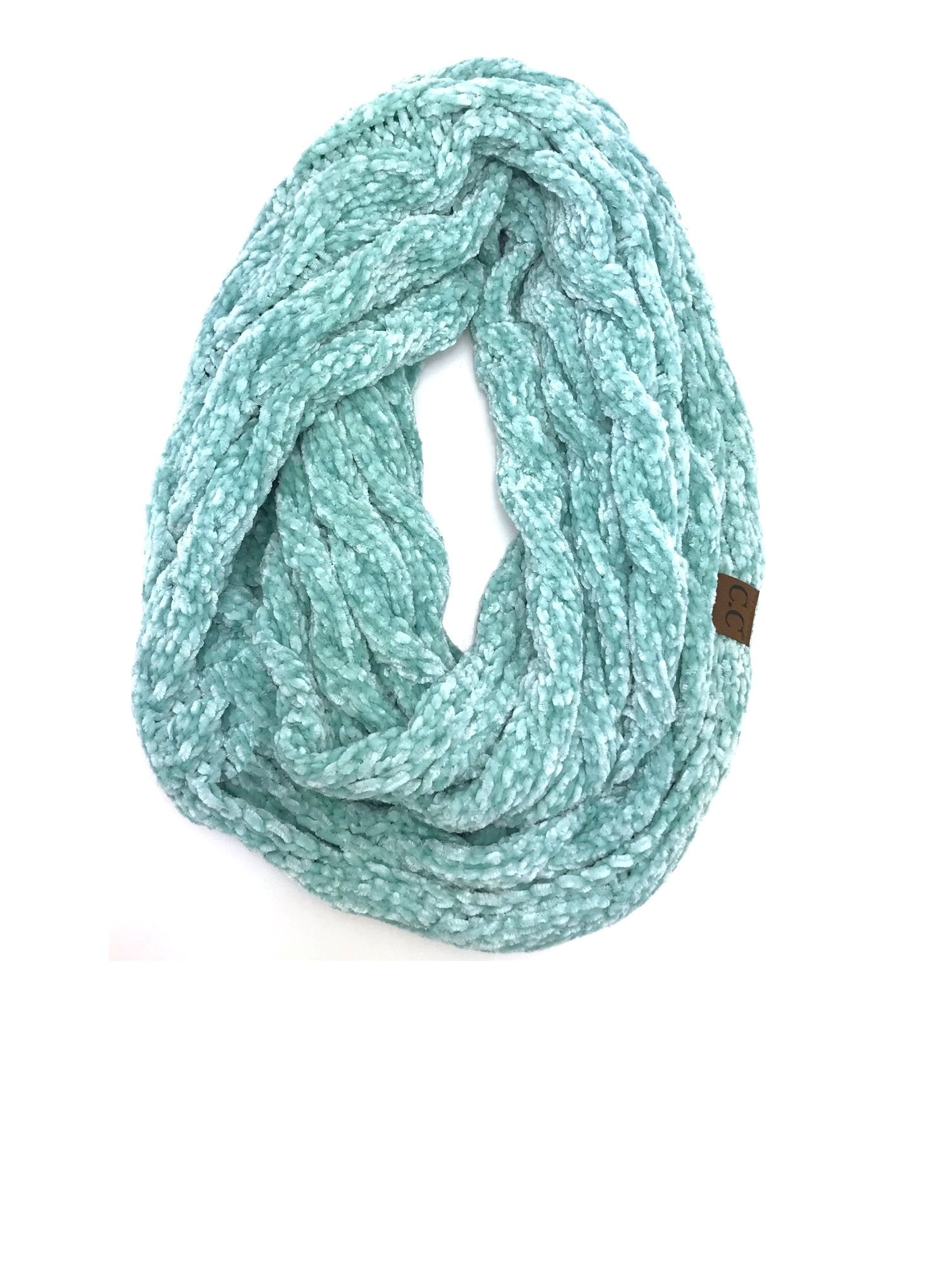 SF-30 MINT VELOUR SCARF