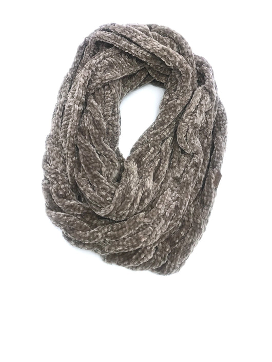 SF-30 TAUPE VELOUR SCARF