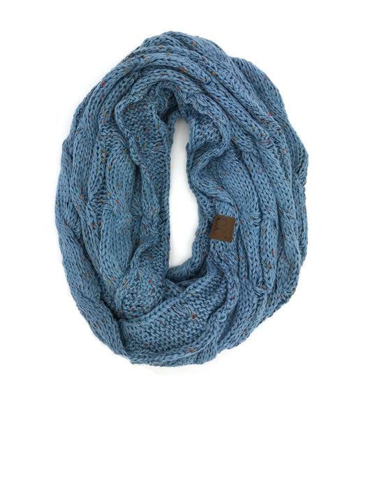 SF33-Denim Speckled Infinity Scarf