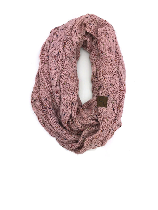 SF-33 Rose Speckled Infinity Scarf