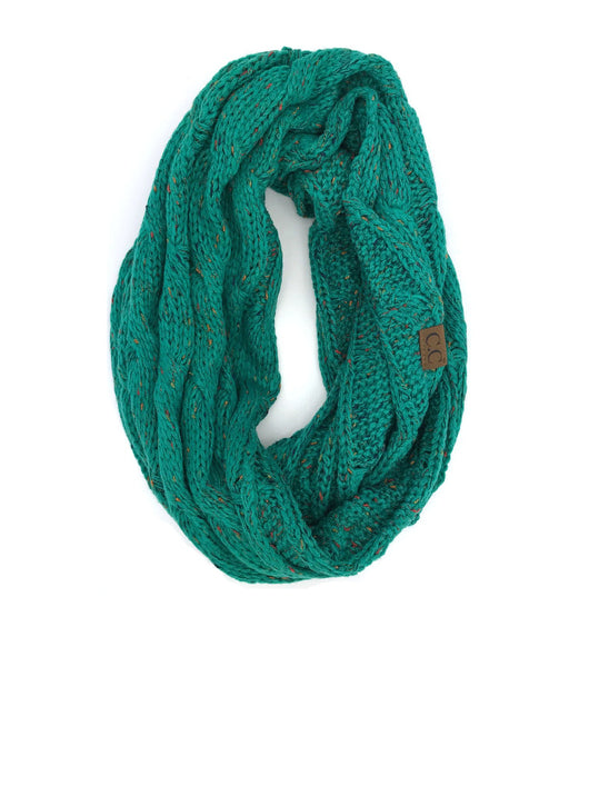 SF-33 Seagreen Speckled Infinity Scarf