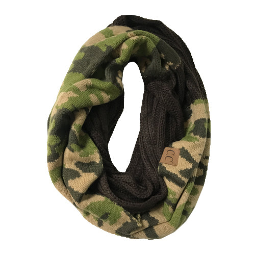 SF-46 CAMO INFINITY SCARF BROWN