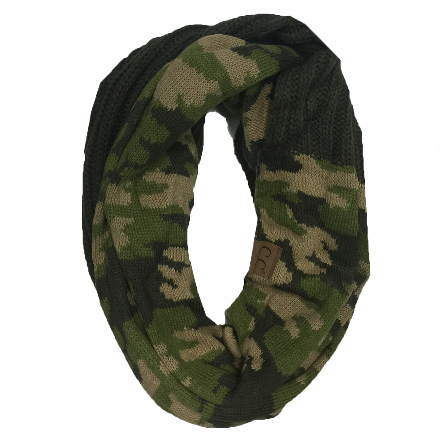 SF-46 CAMO INFINITY SCARF OLIVE