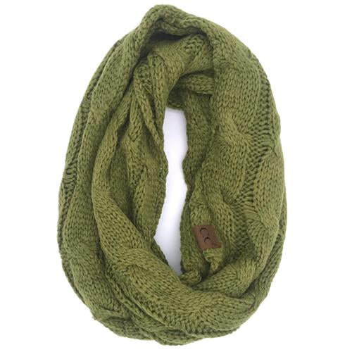 SF-800 Olive Infinity Scarf