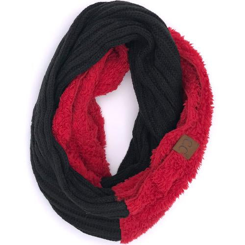 SF-88 Sherpa Infinity Scarf Black Red