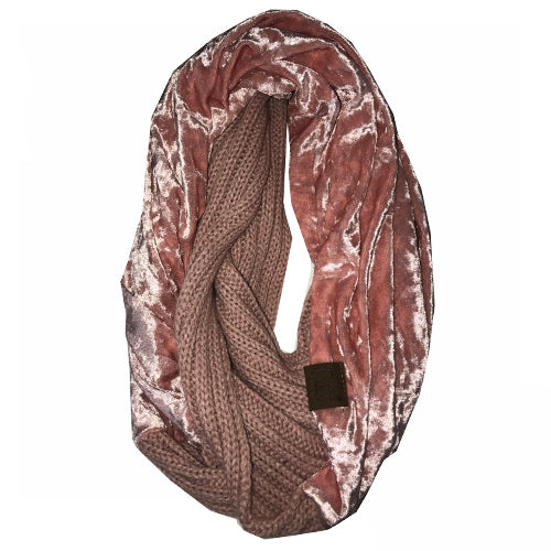 SF-89 INDI PINK CRUSHED VELVET SCARF