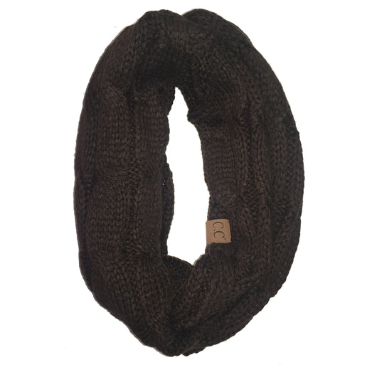 SF800-Brown Infinity Scarf