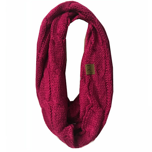 SF800-Hot Pink Infinity Scarf