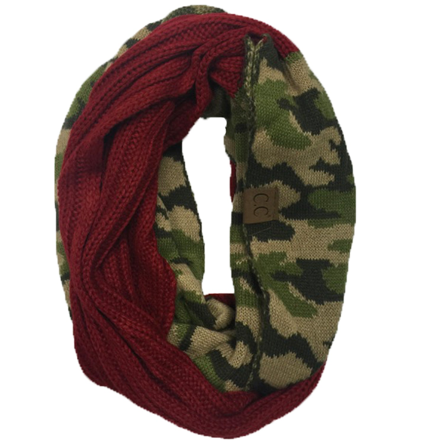 SF-46 Camo Infinity Scarf Red